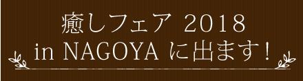 癒しフェア 2018 in NAGOYAに出ます!